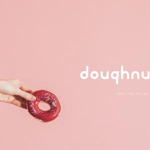 """フリーフォント""""Doughnut"""""""
