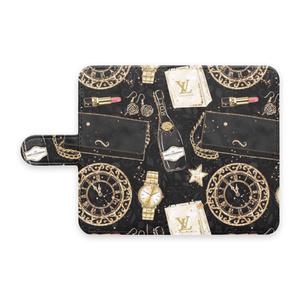 Fashion Black 手帳型 アンドロイドカバー
