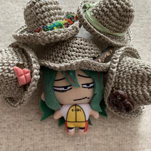 ぷちマス用  リネン麦わら帽子