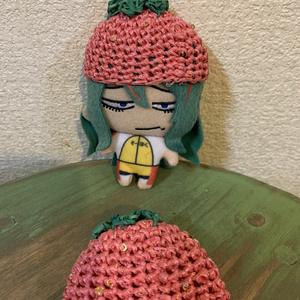 ぬいぐるみ用 イチゴ帽子