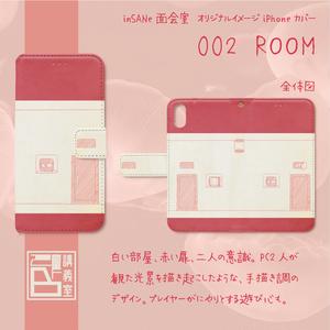 【面会室(inSANe版)】オリジナルiPhoneカバー(手帳型)002