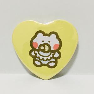BABYハート缶バッジ(イエロー)