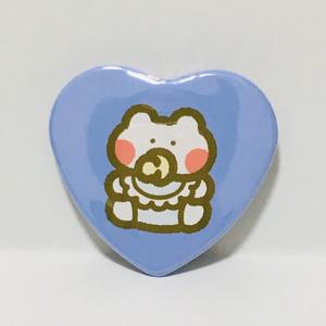 BABYハート缶バッジ(ブルー)
