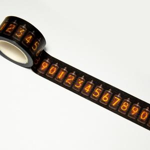ニキシー管マスキングテープ(横)