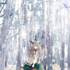 スマホ用壁紙「白花の森」