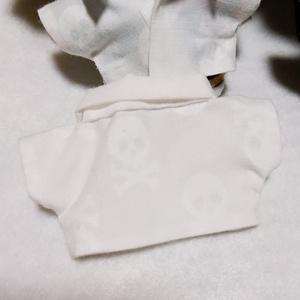 ぬい服/白シャツ,デニムジャケット