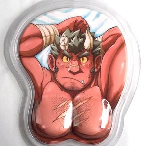 『召喚勇者とF系彼氏』 立体マウスパッド1・ 騎士オルグス(ポストカード付)