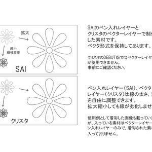 SAIクリスタ】小花【ベクタ形式素材