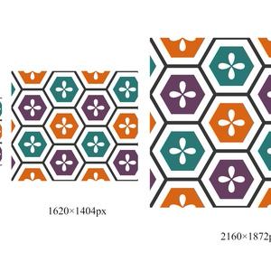 亀甲文様パターン素材1