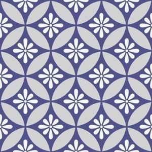 七宝パターン素材1 小花