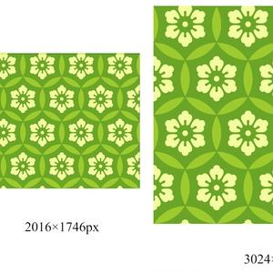 七宝パターン素材9 六つ花