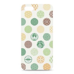 iPhoneケース 花の丸 緑黄