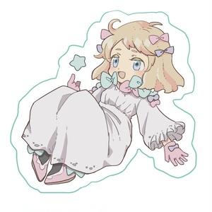 【ぎやまん】星の女の子のアクリルキーホルダー