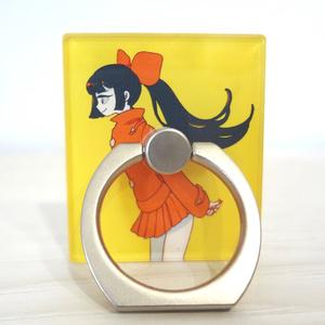 【ぎやまん】オレンジガールのスマホリング