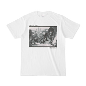 ロボ子さん バーチャルロボットTシャツ「モノクロ白」