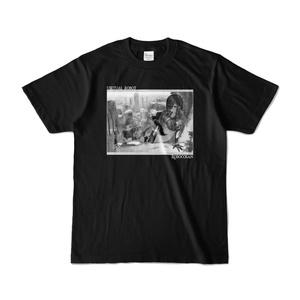 ロボ子さん バーチャルロボットTシャツ「モノクロ黒」