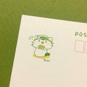 まっちゃねこ。ポストカード【はんだづけ】
