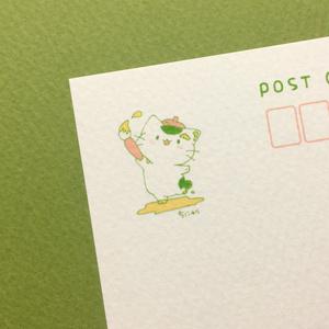 まっちゃねこ。ポストカード【おえかき】