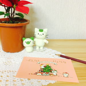まっちゃねこ。ポストカード【クリスマス】