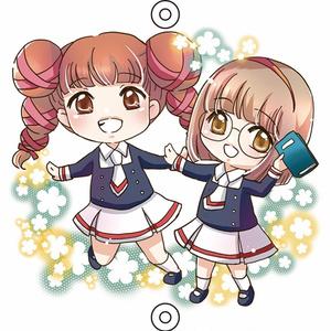 千春+奈緒子アクリルチャーム