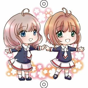 桜+秋穂アクリルチャーム