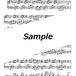 【楽譜】茶屋にて【ピアノアレンジ】