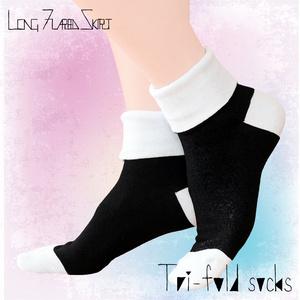 Tri-fold socks