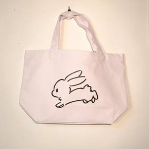 うさぎの白ランチトートバッグ