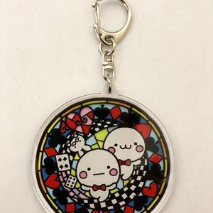 ステンドグラス風童話アクリルキーホルダー【4種類】