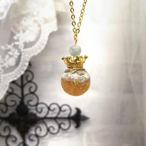 ローレライ・アミュレット /蜂蜜とアクアマリンのネックレス
