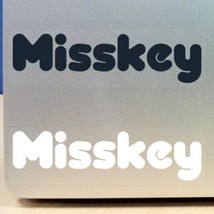 Misskey ロゴステッカー 2cm x 8cm