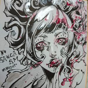 艶惨10 色紙原画