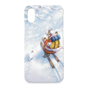 iPhoneケース「島々ヤク ~山スキーとライチョウ~」