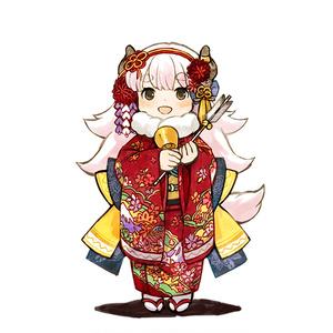 絵馬 島々ヤクちゃん新春晴れ着