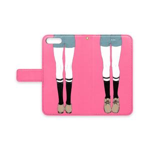 少年のおみあしiPhoneケース(ピンク)