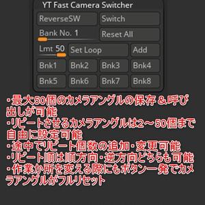 指定したカメラアングルにホットキーワンクリックで切り替わるプラグイン「YT Fast Camera Switcher」