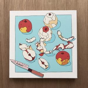 キャンバスアート-りんご