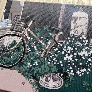 キャンバスアート-自転車