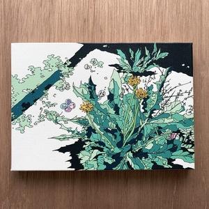 キャンバスアート-たんぽぽ