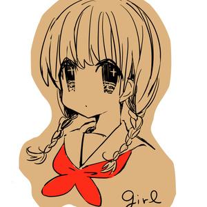 クラフトシールセット<Red girl>