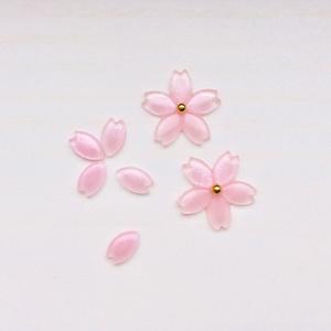 桜の花のノンホールピアス