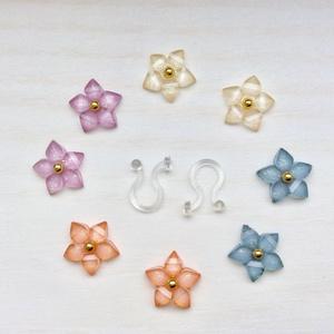 小さなお花のノンホールピアス【B】