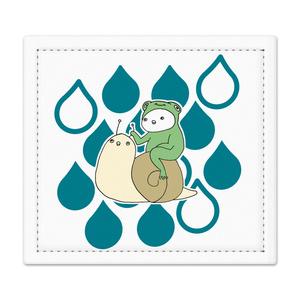 捺印マット「仲良しな蝸牛と蛙」