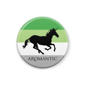 Aロマンティック 缶バッジ Unicorn ver.