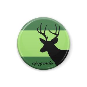 apogender 缶バッジ Deer ver.