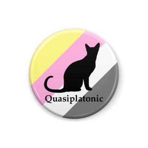 quasiplatonic 缶バッジ Cat ver.