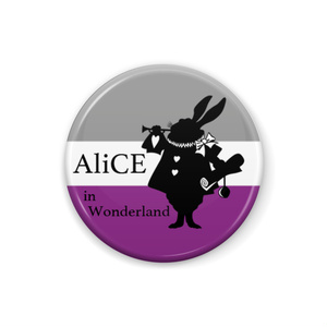 AliCE in Wonderland <Aセクシャル> 缶バッジ