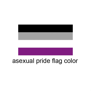 Aセクシャル <ASEXUAL PRIDE> 缶バッジ Star ver.