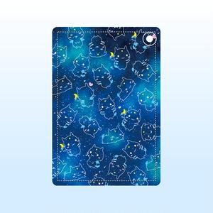 青い妖精さんパスケース