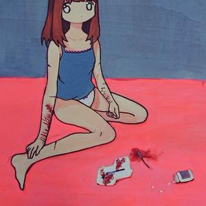 原画「自傷するうさぎ」